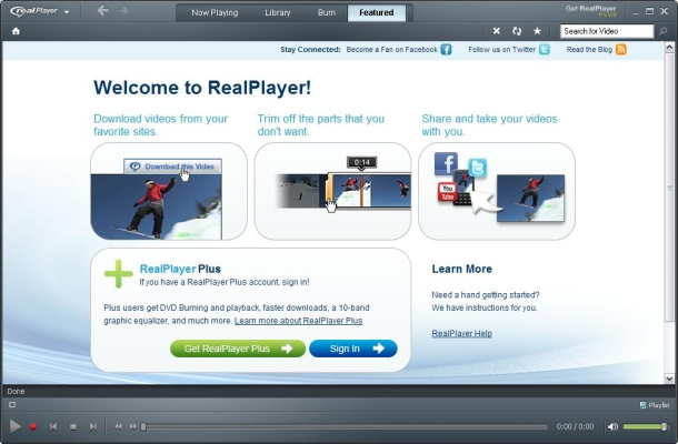 Плеер RealPlayer Рус